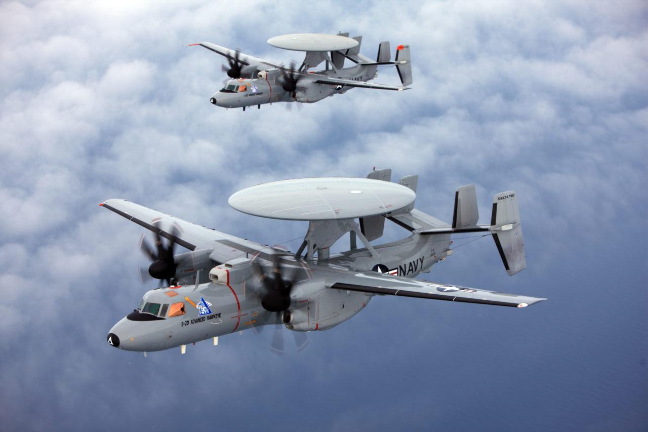 E-2D Advanced Hawkeye, one of the launch platforms for EGI-M. (Northrop Grumman)