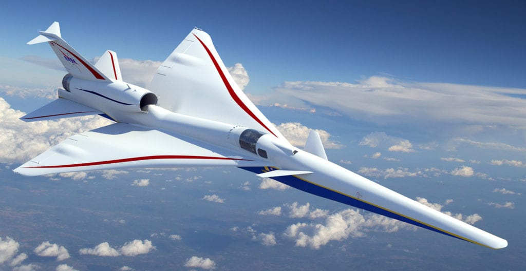 X-59 QueSST low-boom demonstrator design concept. (Lockheed Martin)